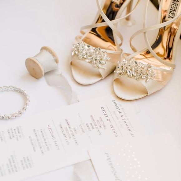 cc7bc435474 Badgley Mischka Shoes - Badgley Mischka Gala Crystal Satin Stiletto Heels